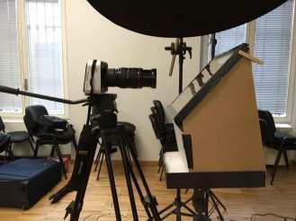 Blackmagic 4K con Canon 24-70 L e Teleprompter selfmade